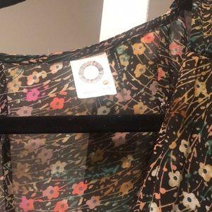 Anthropologie Dresses - Akemi + Kim floral silk button down dress